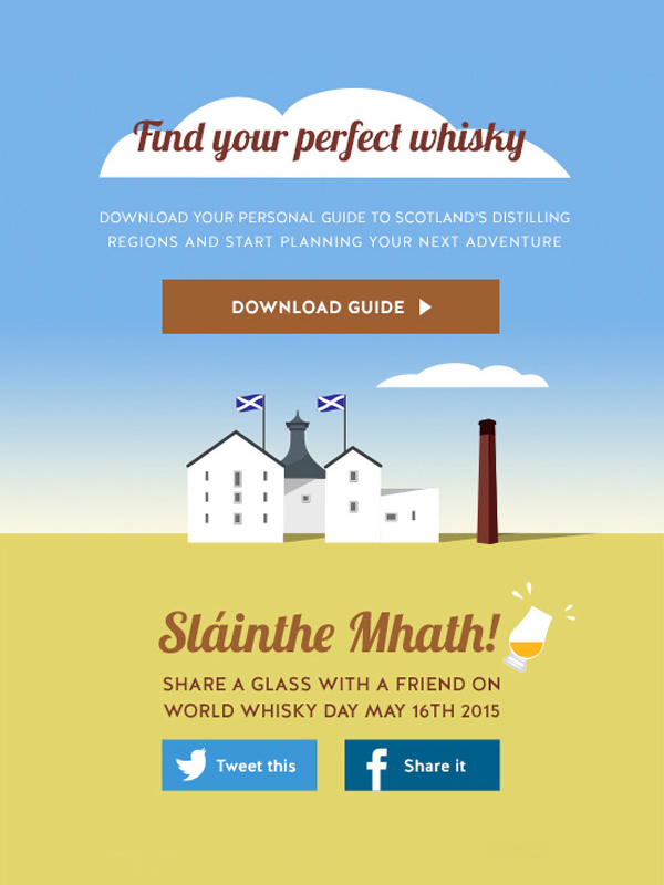 Whisky Month Email detalle