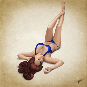 Ilustración Pin-up Keko Perera I